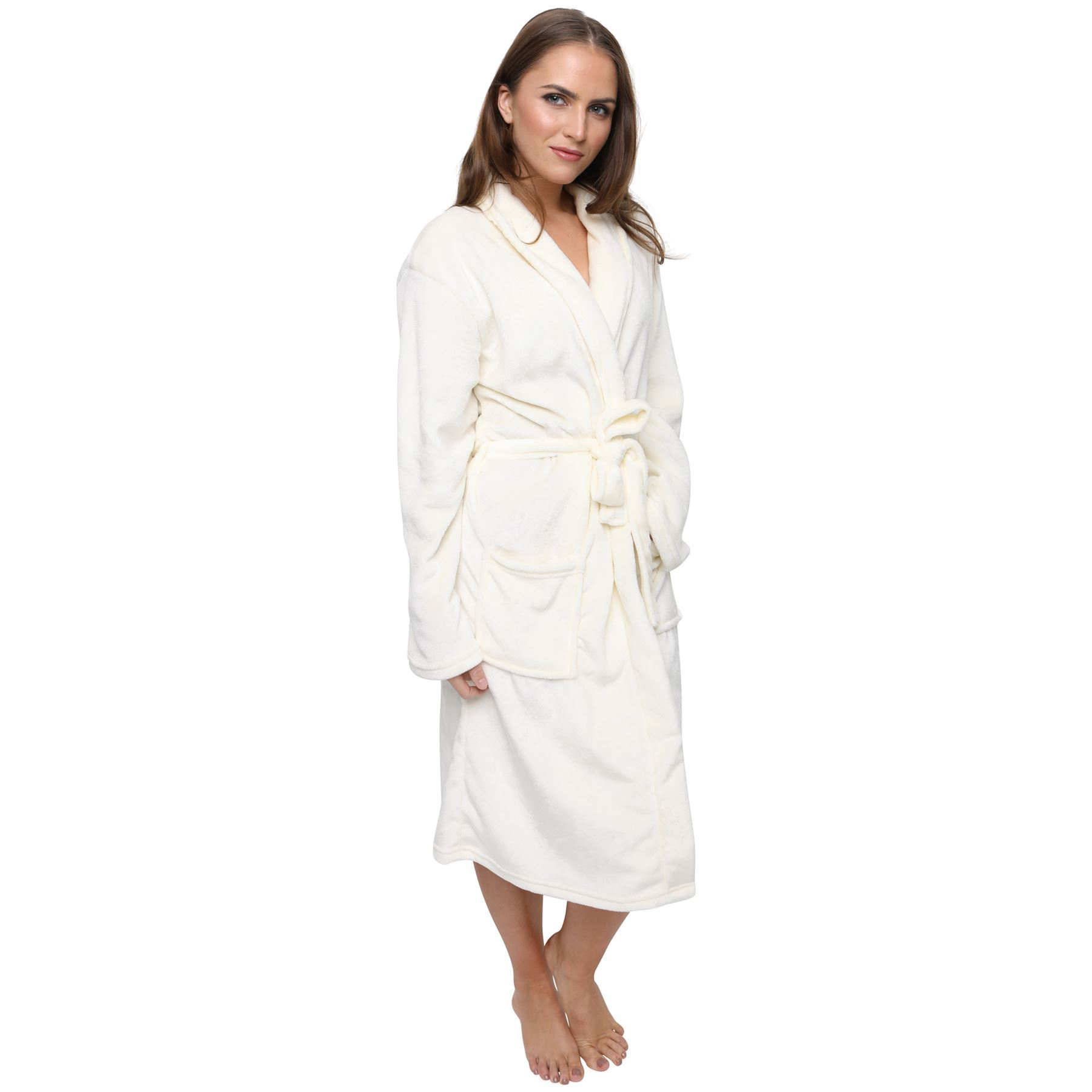 Soft and luxurious, the His or Hers Embroidered Luxury Fleece Robe is perfect for the bedroom, bath or casual lounging. Embroidered with His or Hers on the front, add any name in your choice of thread colors and select from 4 different robe colors.