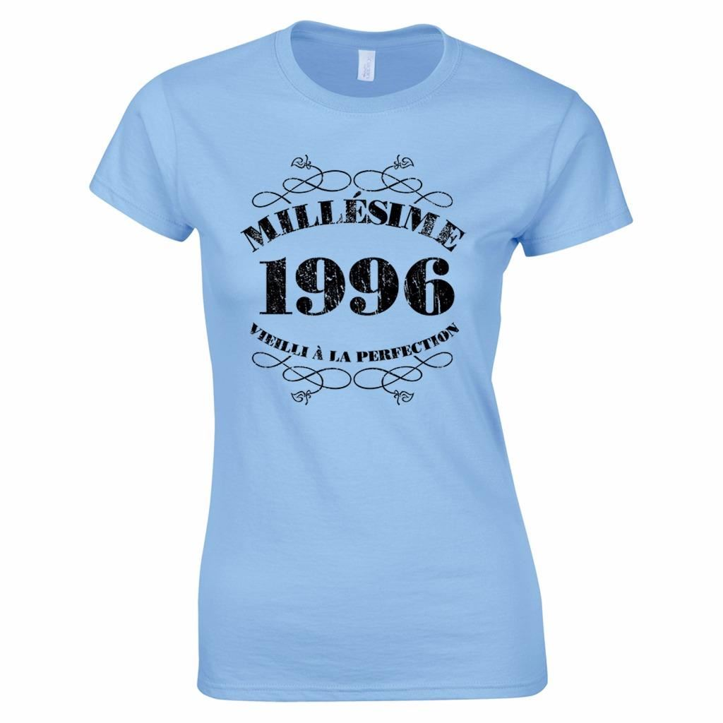 t shirt anniversaire 20 ans femme millsime 1996 ebay. Black Bedroom Furniture Sets. Home Design Ideas