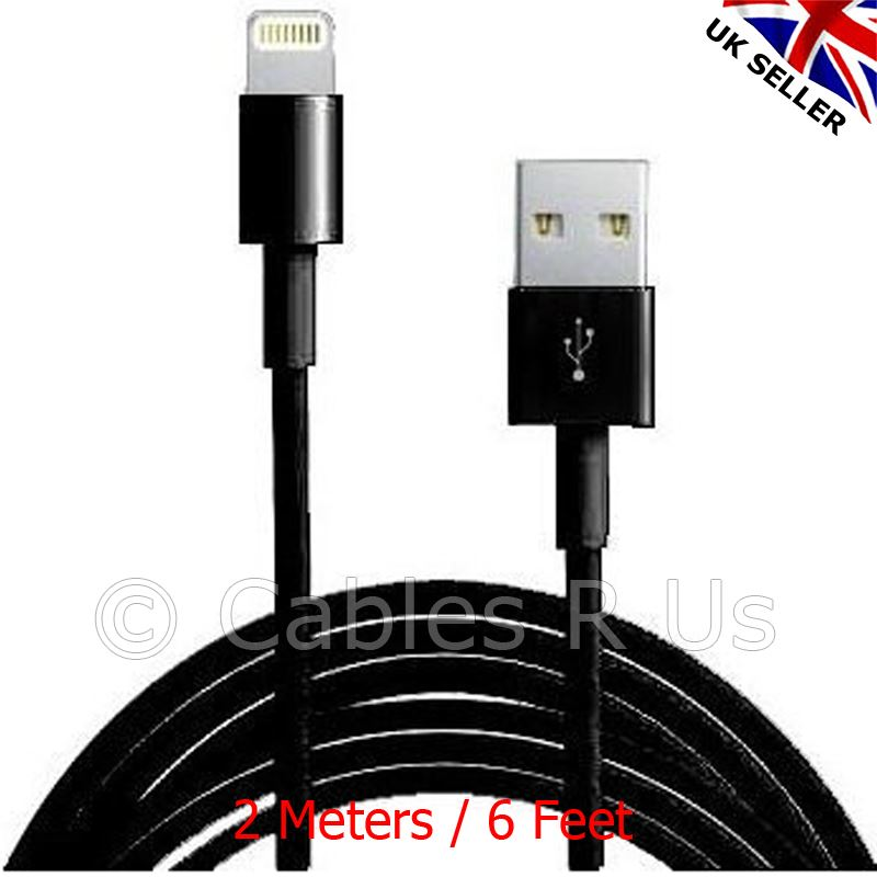 2-Meters-Data-Sync-Charger-Cable-Lead-for-iPhone-5-5S-iPad-iPod-IOS7-Compatible