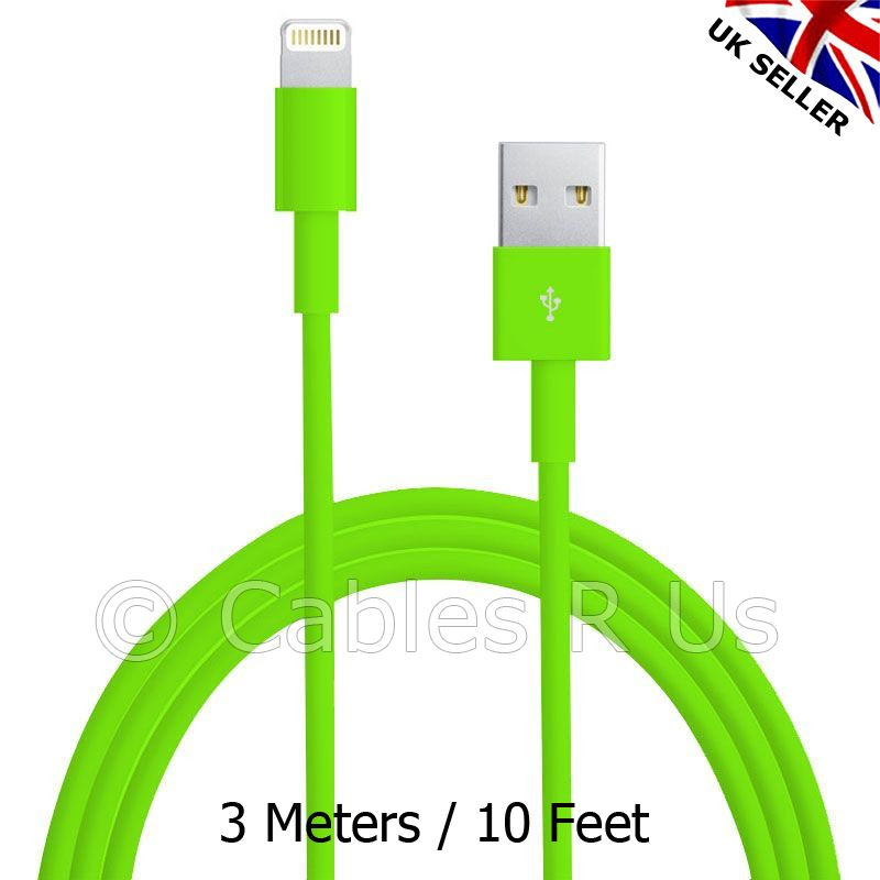 3-Meters-Colour-USB-Data-Sync-Charger-Cable-Lead-for-iPhone-5-5S-5C-iPod-iOS7