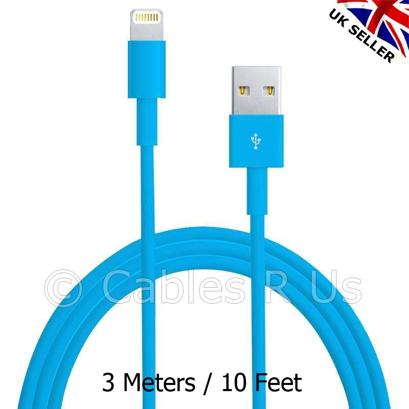 3-Meters-Data-Sync-Charger-Cable-Lead-for-iPhone-5-5S-iPod-IOS7-Compatible