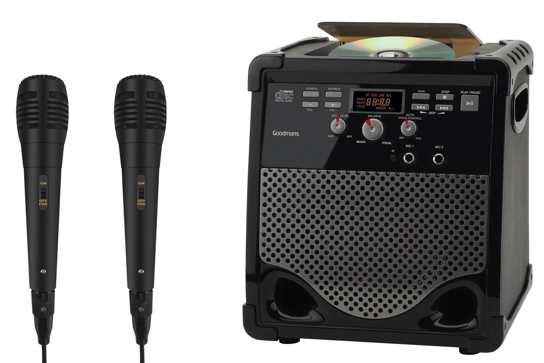how to connect karaoke machine to tv