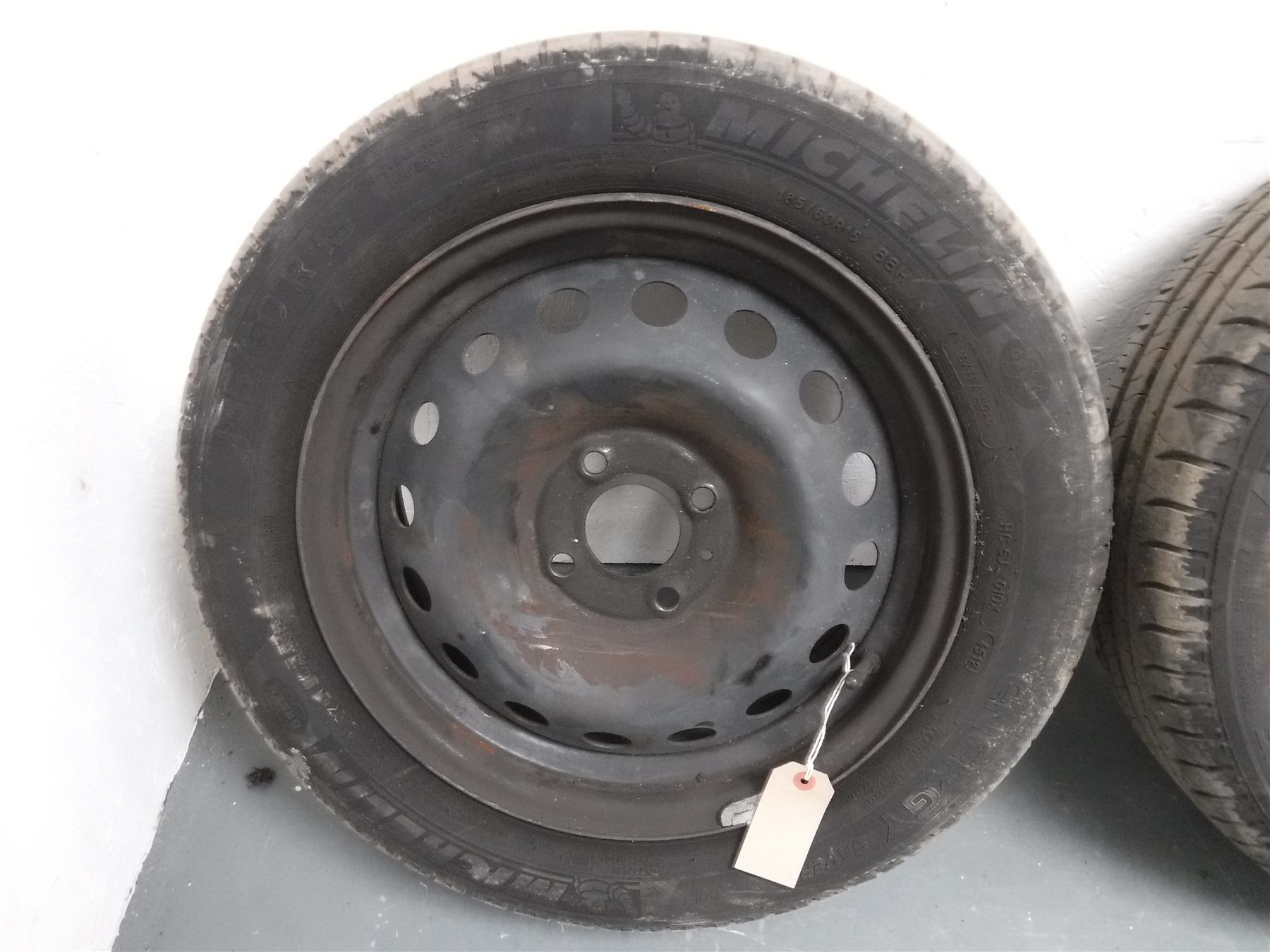 renault clio mk3 2005 2009 steel wheel tyre 185 60 r15 michelin ebay. Black Bedroom Furniture Sets. Home Design Ideas