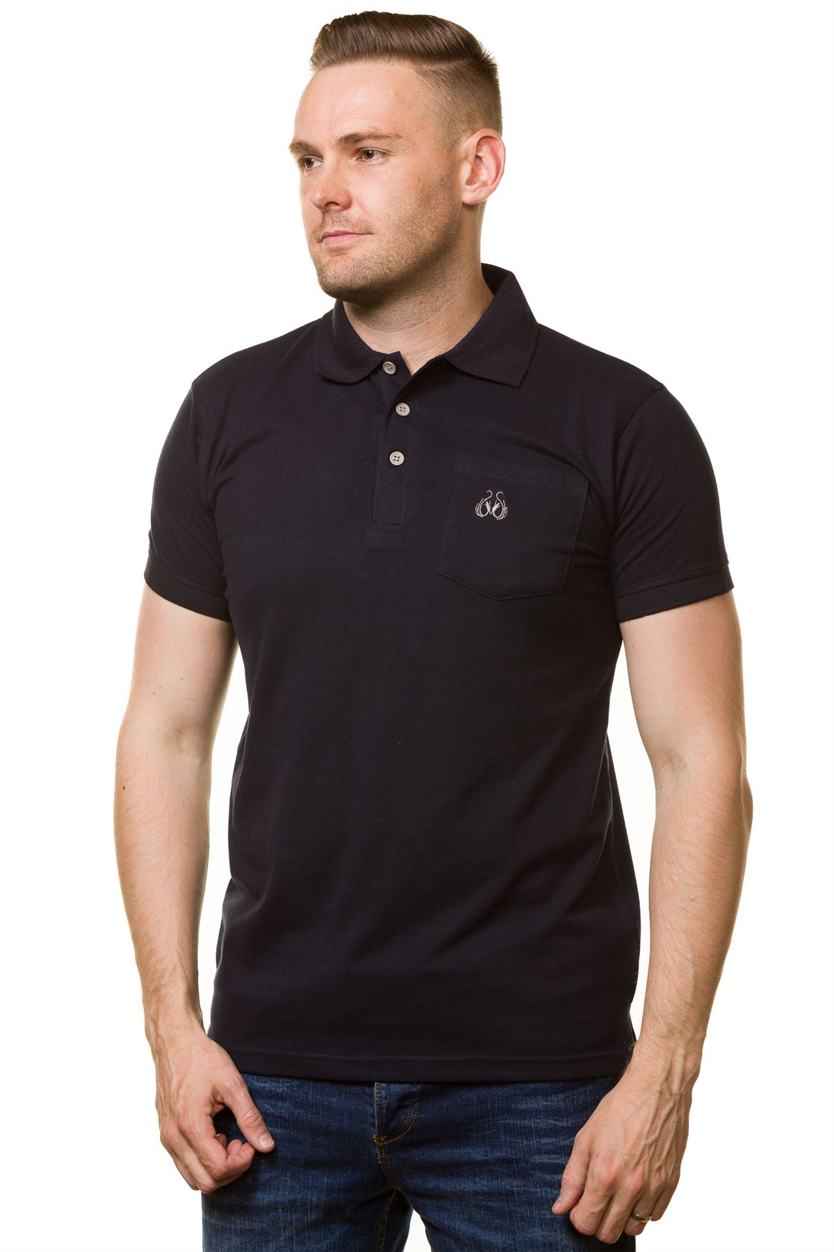 Men s t shirts cotton regular fit branded plain polo for Branded polo t shirts