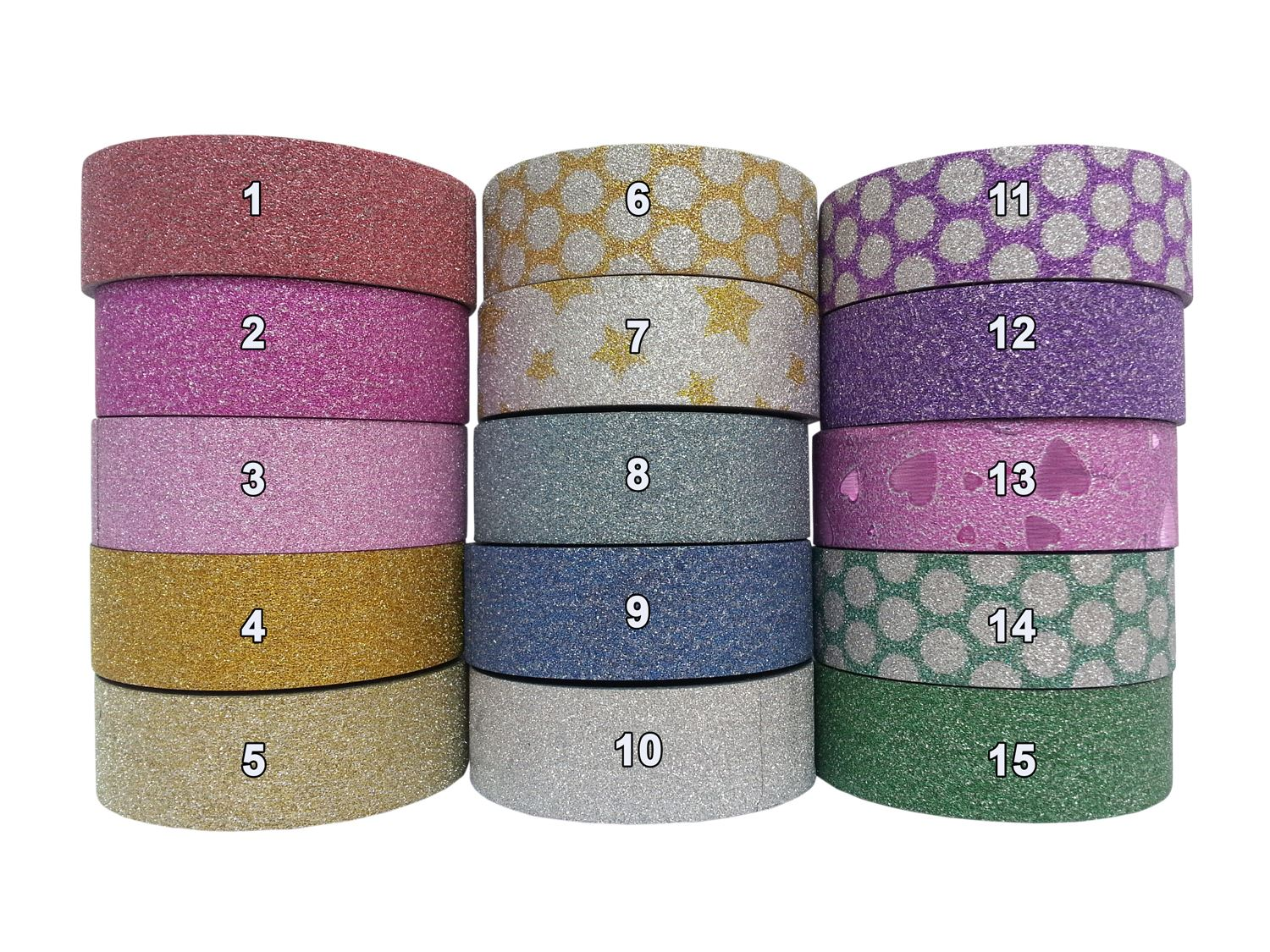 Glitter tape washi paper masking gift wrap self adhesive for Sticky paper for crafts