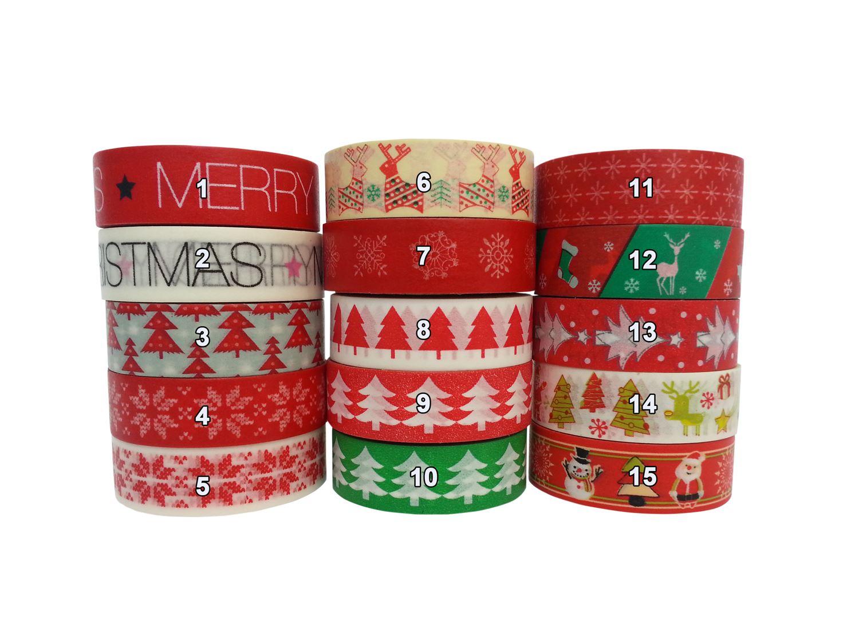 Christmas masking tape washi paper 10m gift wrap for Decoration masking tape