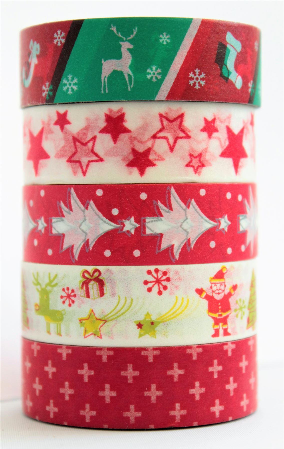 Christmas Wrapping Tape Paper Washi Decorative Self