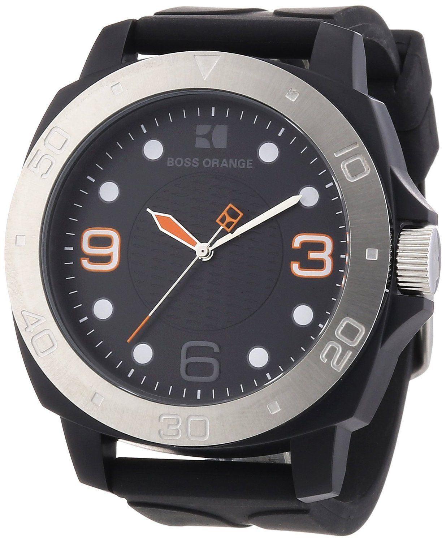 hugo boss orange mens watch black dial amp black strap 1512664 hugo boss orange mens watch black dial black strap 1512664