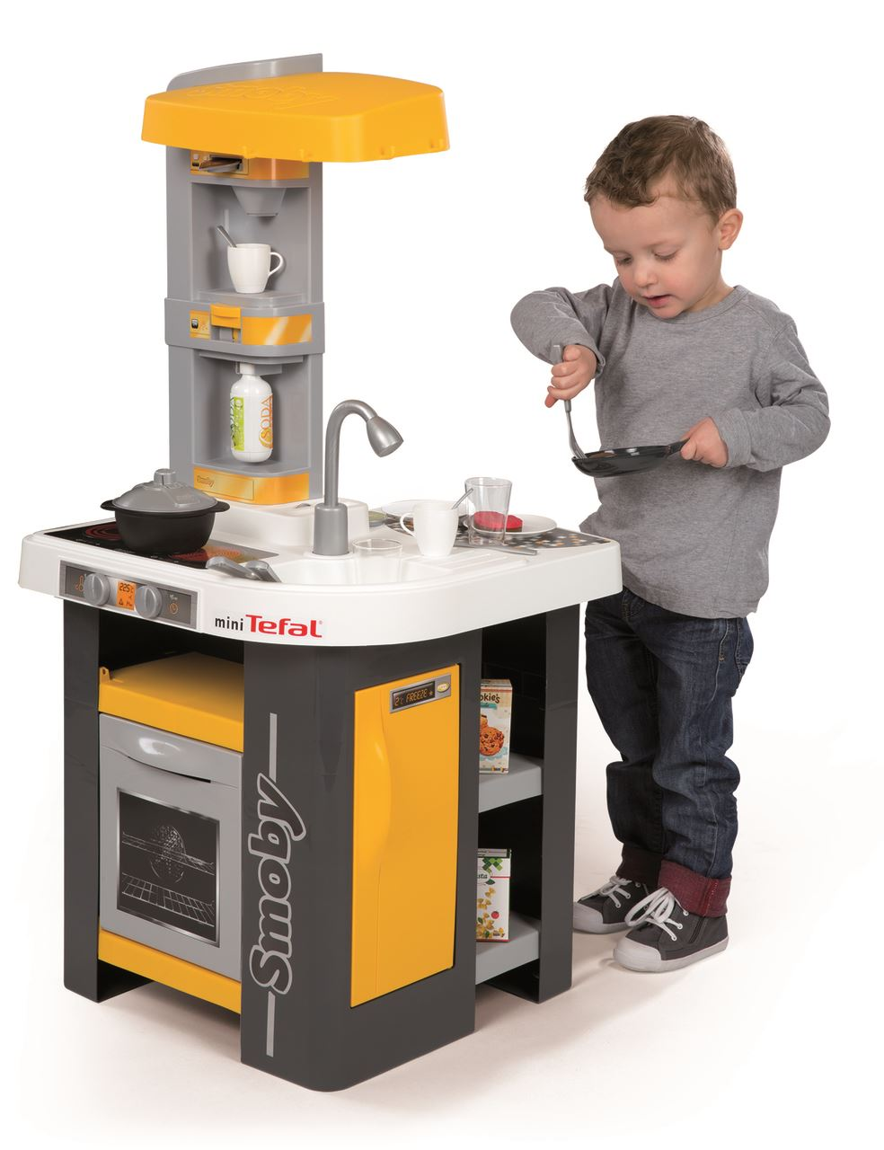 smoby kids tefal mini studio play kitchen childrens roleplay 3 years plus ebay. Black Bedroom Furniture Sets. Home Design Ideas