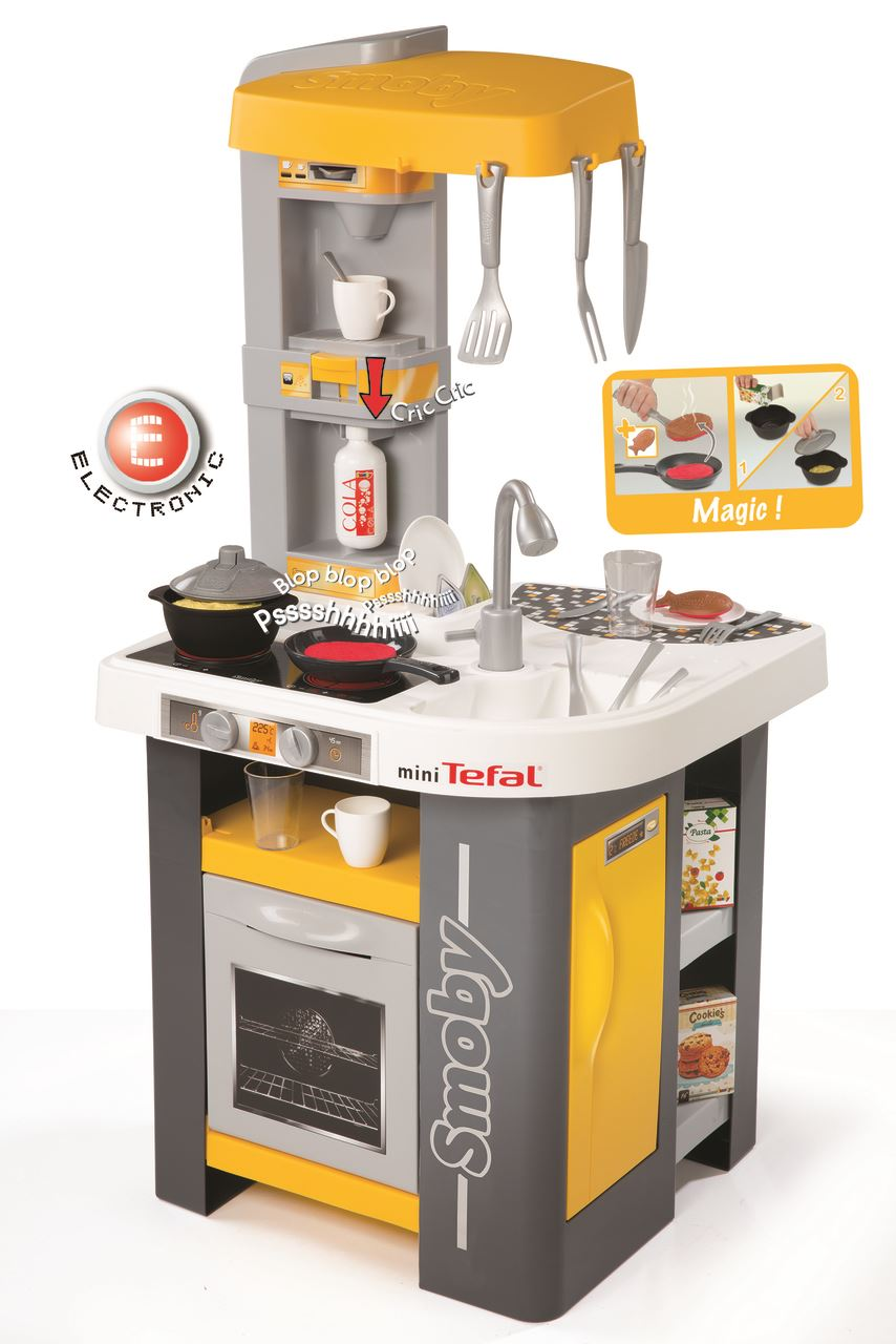 Smoby kids tefal mini studio play kitchen childrens - Mini cuisine studio ...