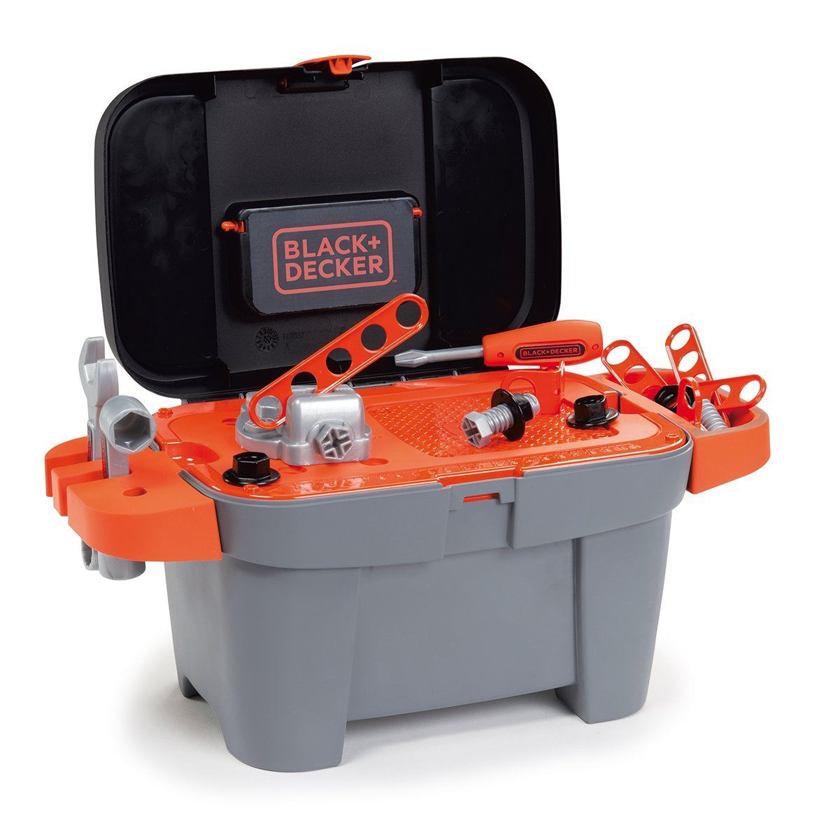 Toy Tool Set : Smoby black and decker tooly childrens toy tool box kids