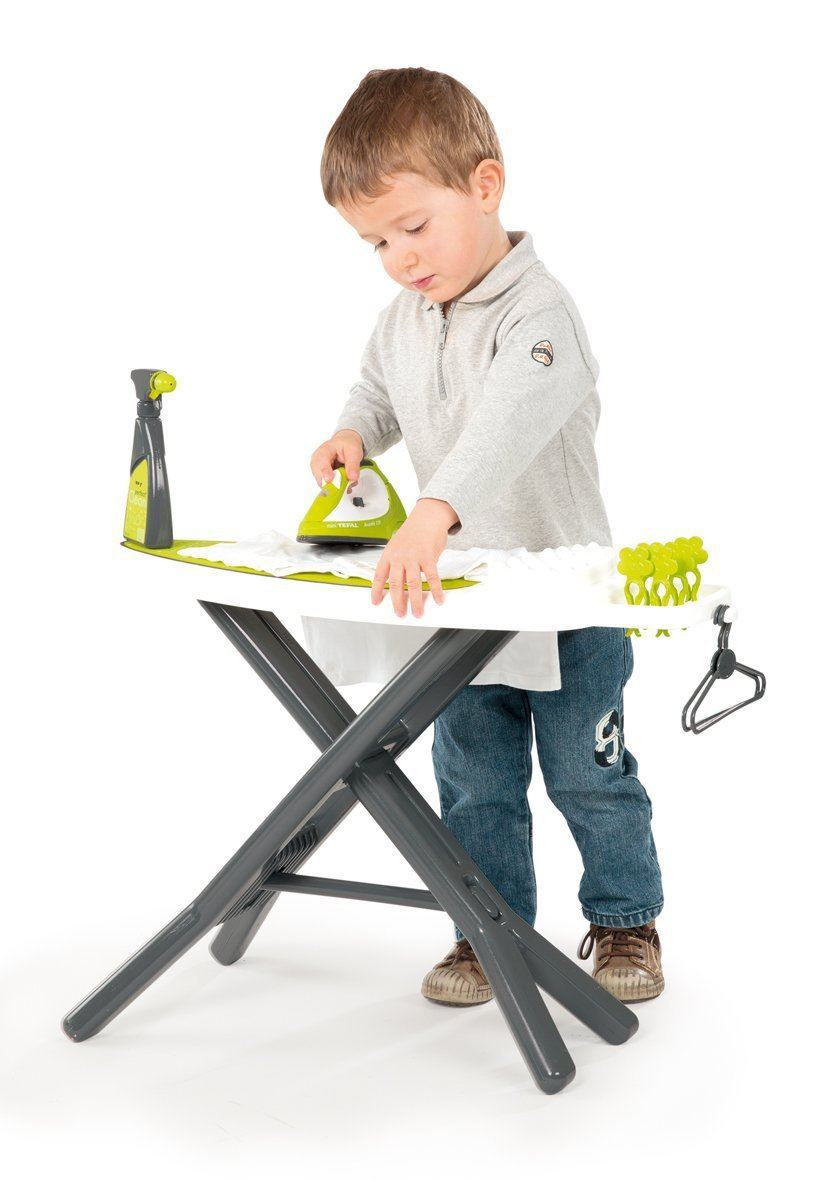 smoby tefal childrens toy iron and ironing board kids play. Black Bedroom Furniture Sets. Home Design Ideas