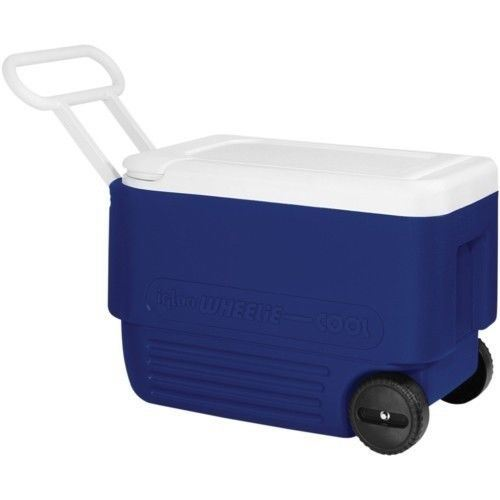 Ice Box Cooler : Igloo wheelie cool qt l roller cooler camping ice
