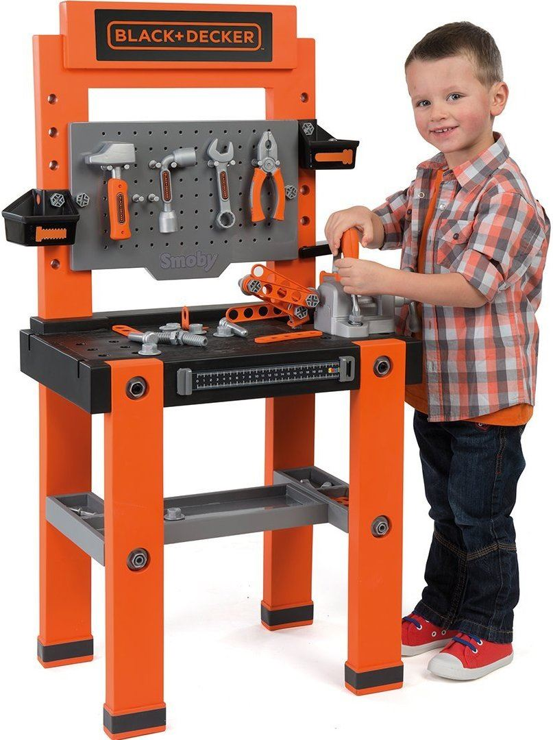 Toy Tool Set : Smoby black and decker bricolo one childrens toy workbench