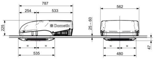 Dometic Freshjet 1100 Caravan Motorhome Amp Campervan Roof
