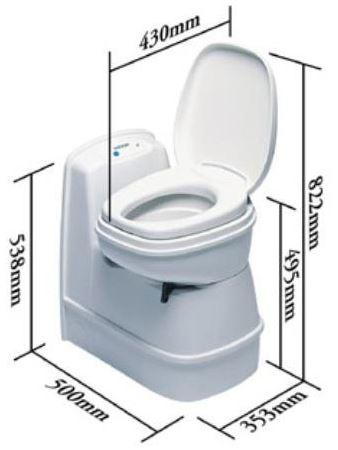 thetford c200 cs cassette toilet caravan motorhome boat. Black Bedroom Furniture Sets. Home Design Ideas