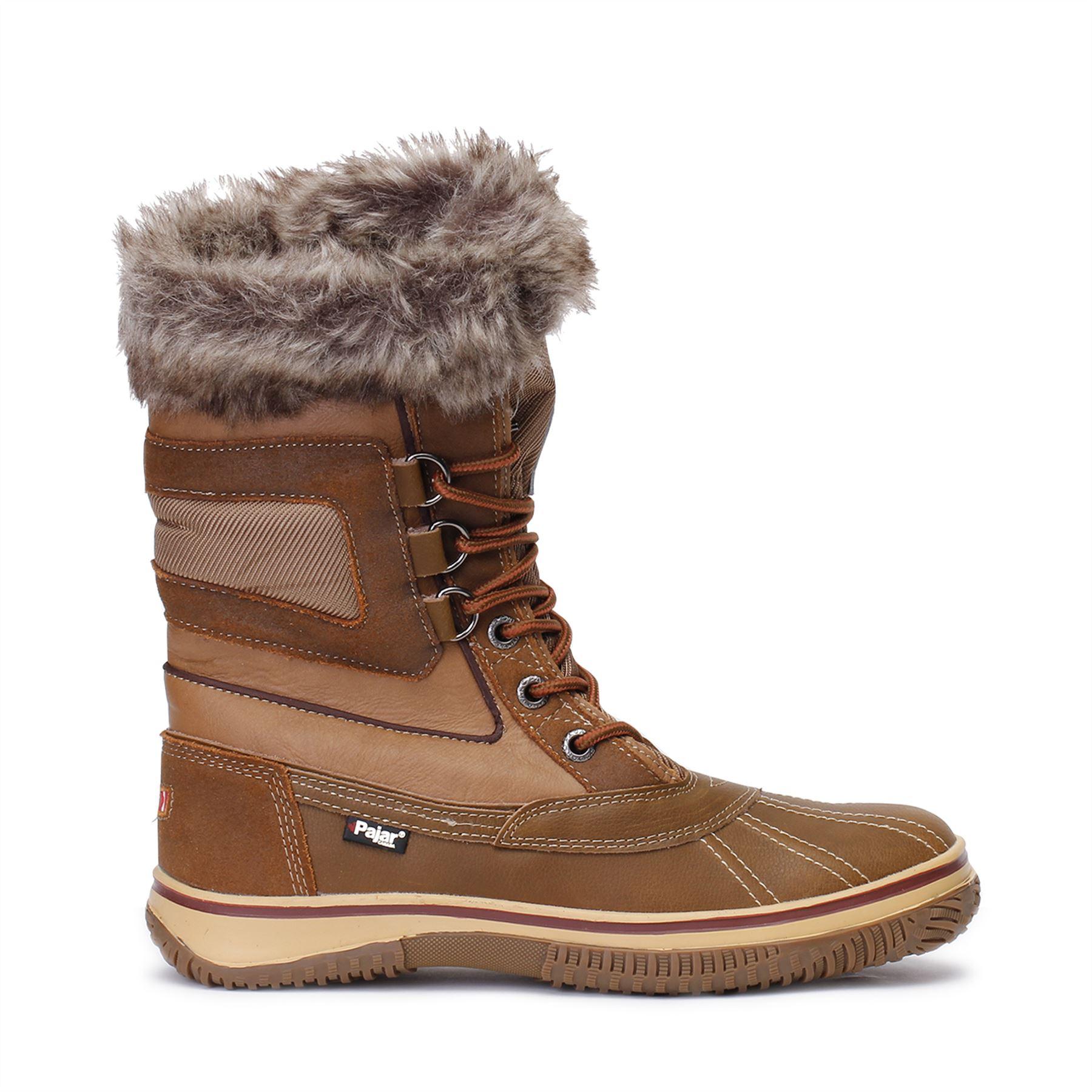 Pajar Canada Mens Tuscan Snow Boots Lined Waterproof Cognac ...