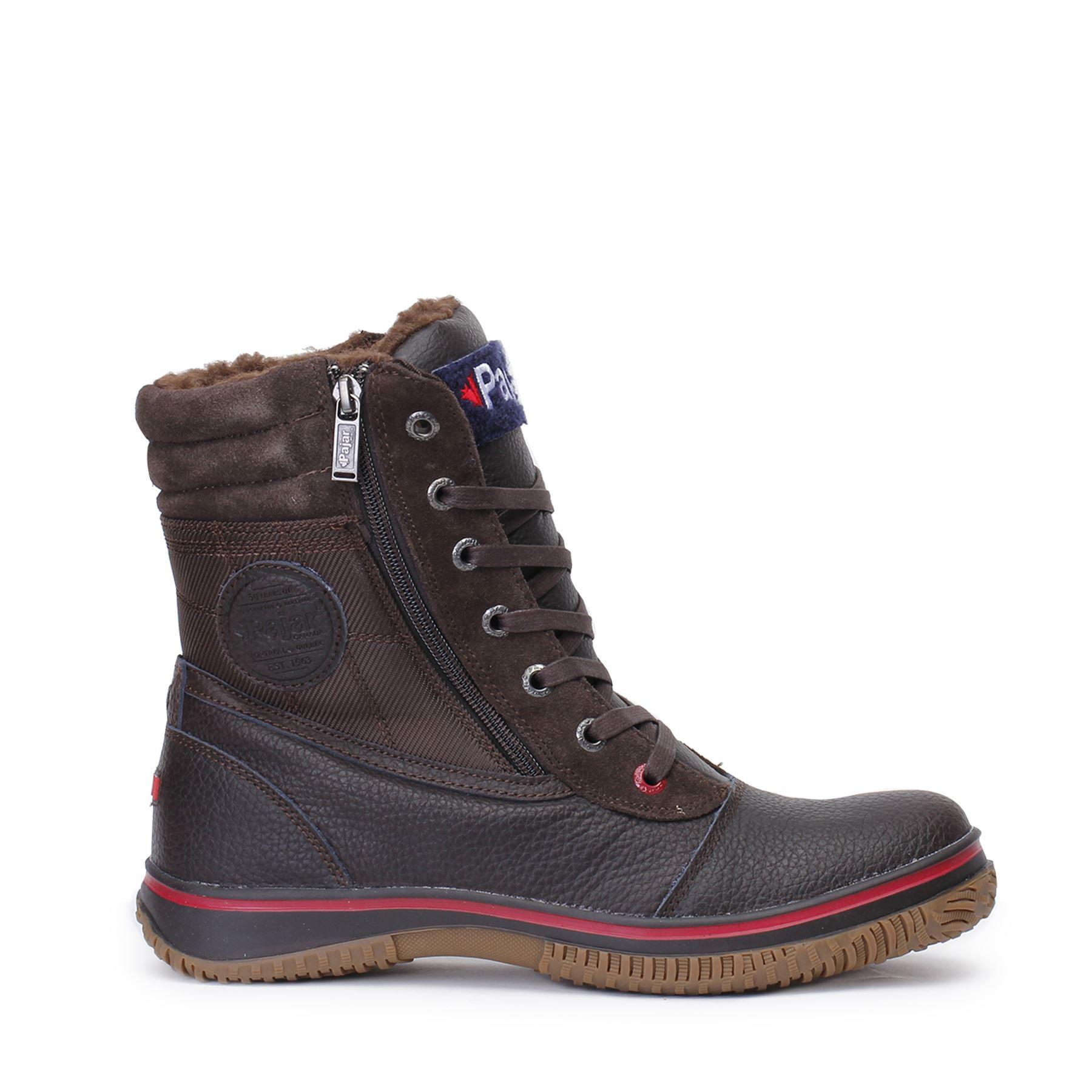pajar canada mens trooper snow boots waterproof brown leather