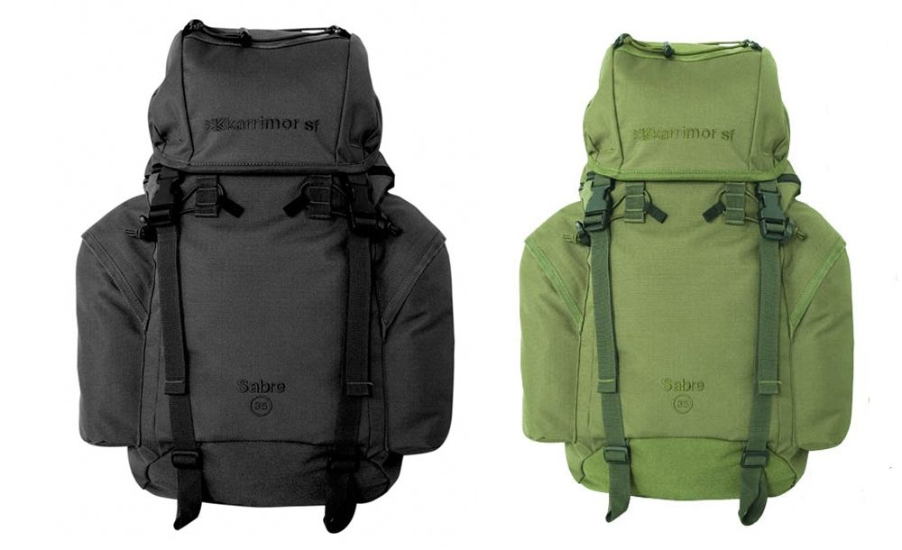 karrimor sabre 35 litre olive or black bergan rucksack ebay. Black Bedroom Furniture Sets. Home Design Ideas