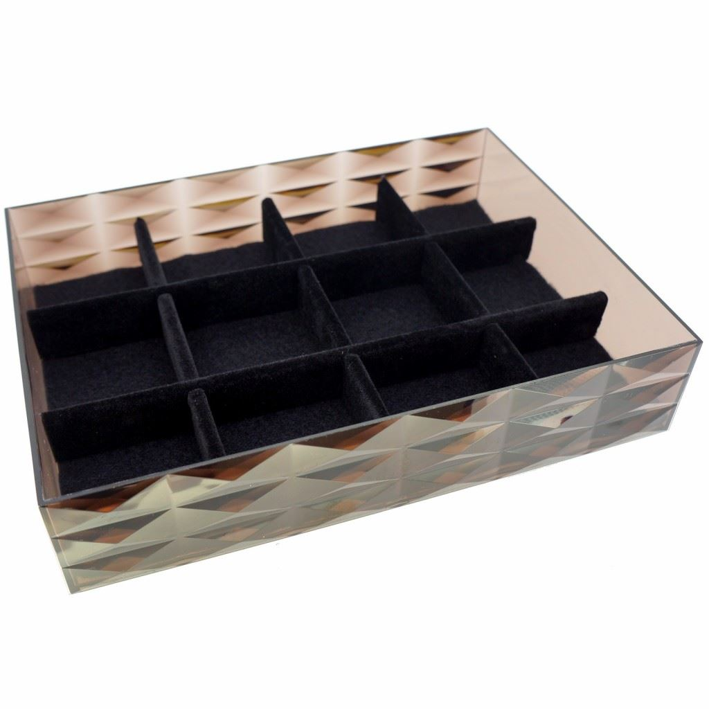 stackable display tray organizer box for fashion jewelry