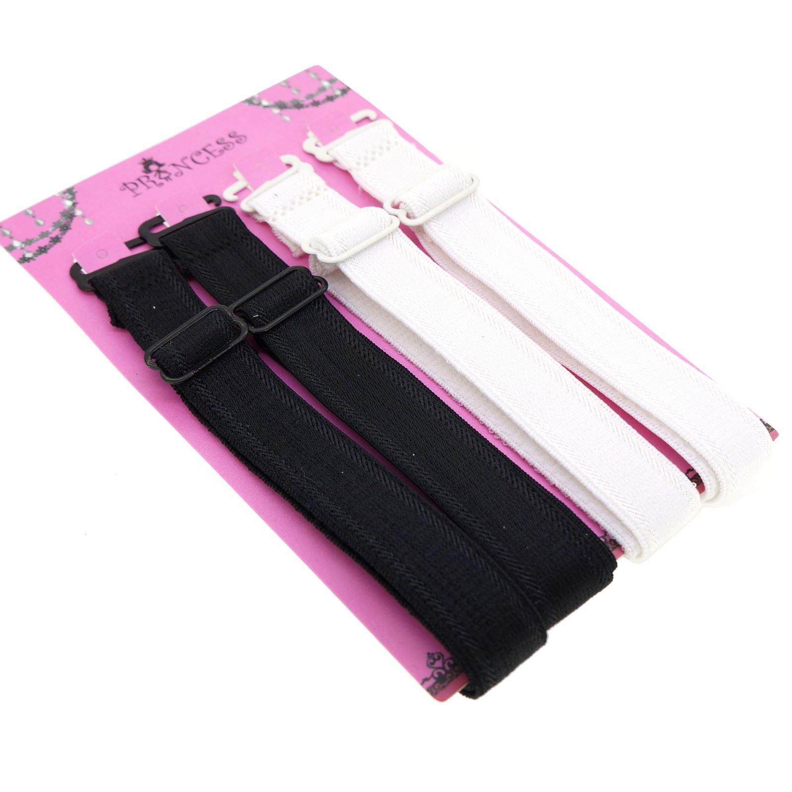15mm Wide Band Fashion Stylish Bra Straps Women's Accessories Multi Color Set