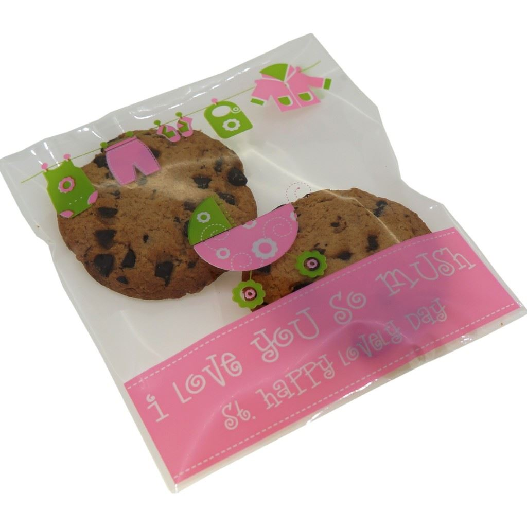 Cookie Biscuits Snack Candy Sweet Soap Party Xmas Gift Packaging Bags Pack of 95