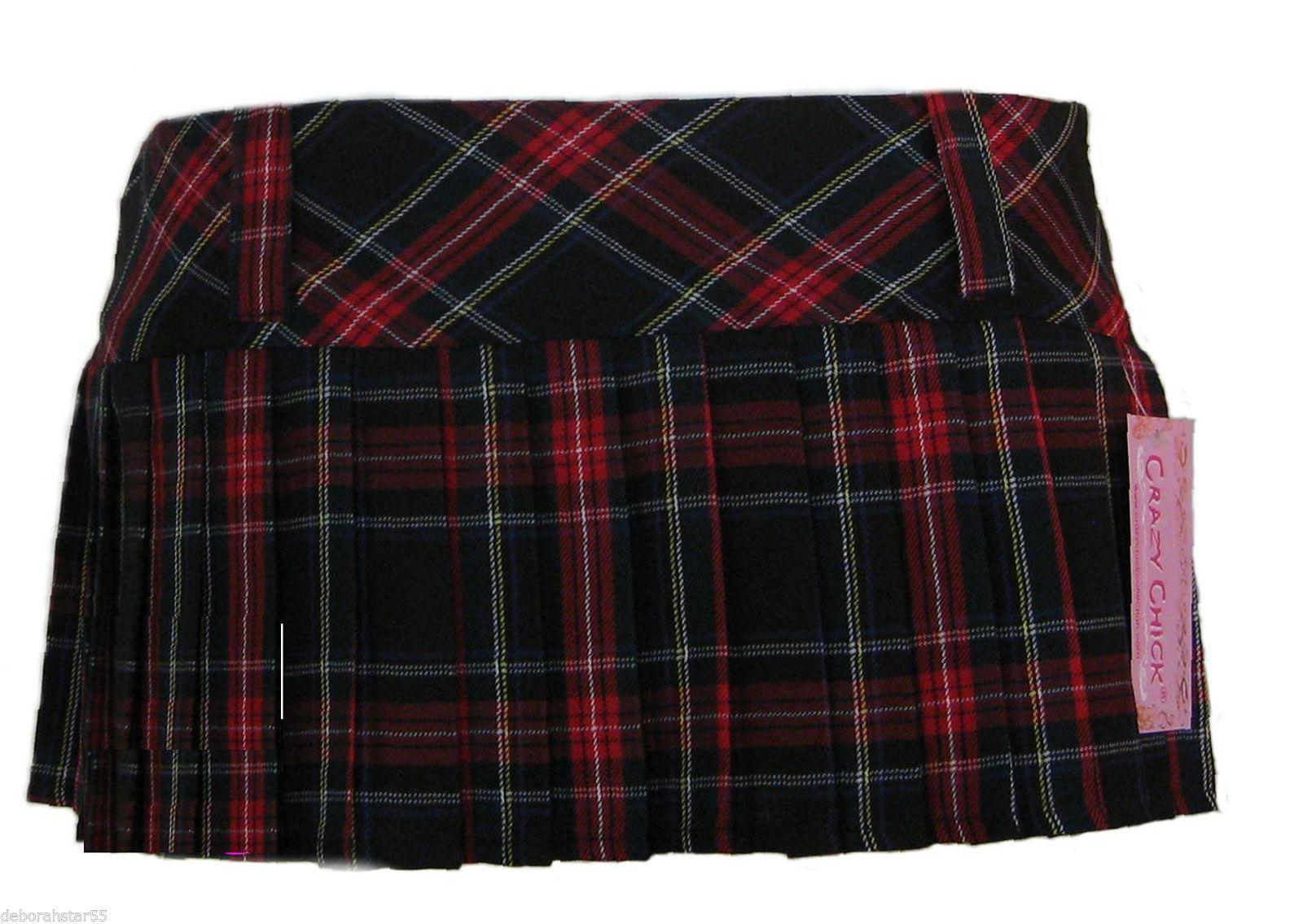 tartan rock tartan minirock tartan faltenrock micro minirock 8 10 12 14 ebay. Black Bedroom Furniture Sets. Home Design Ideas