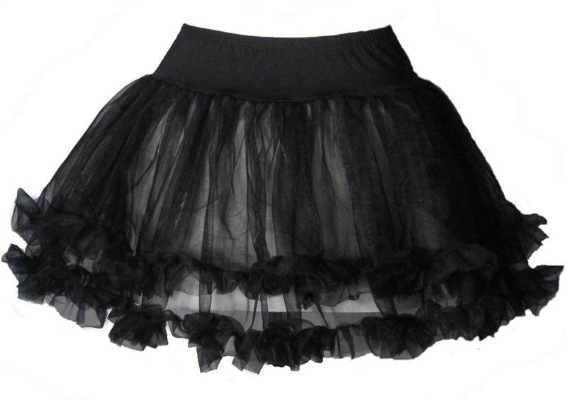 Petticoat-Tutu-SOFT-FULL-Black-White-13-Long-12-14
