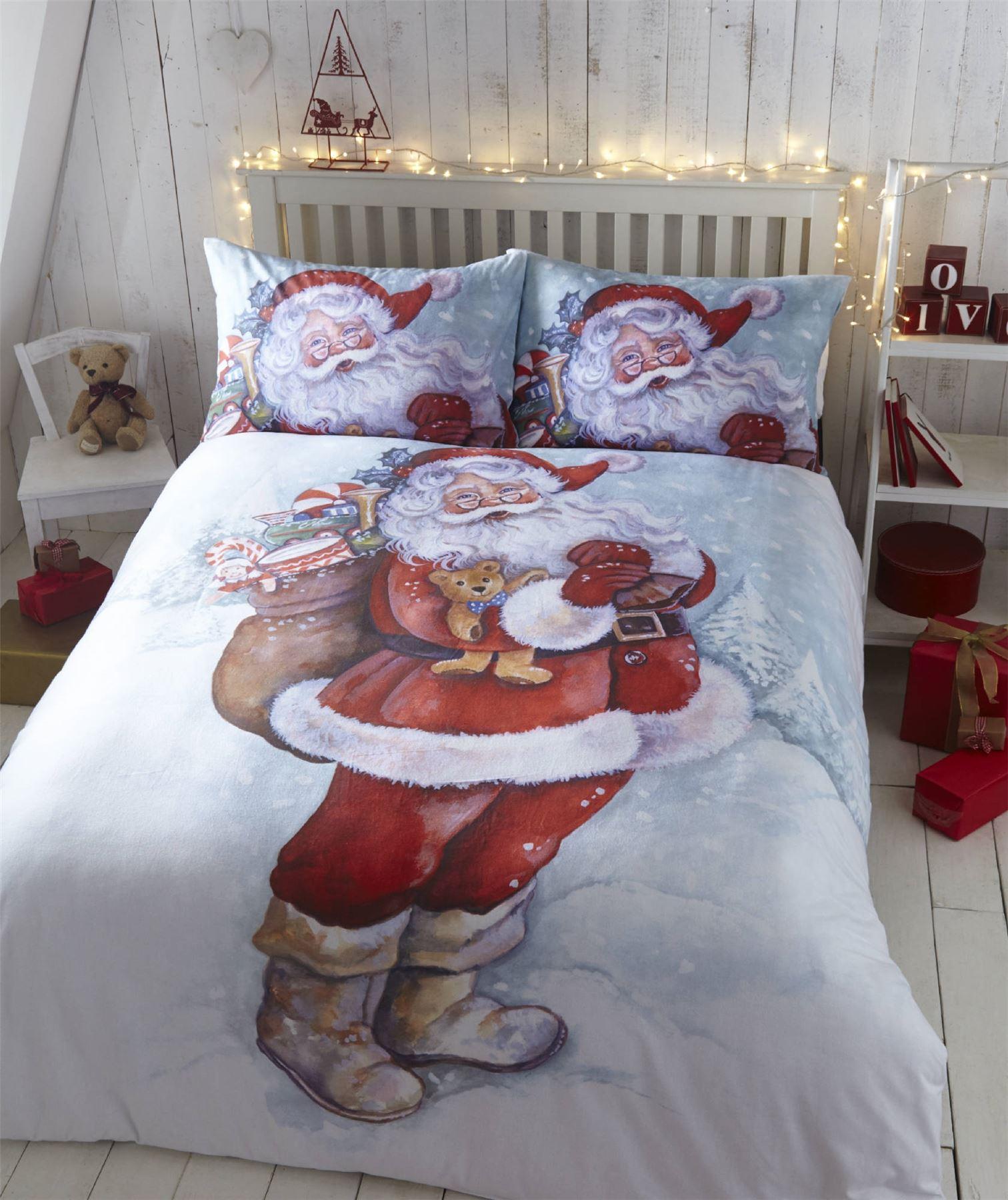 Father Christmas Santa Claus Xmas Duvet Quilt Cover