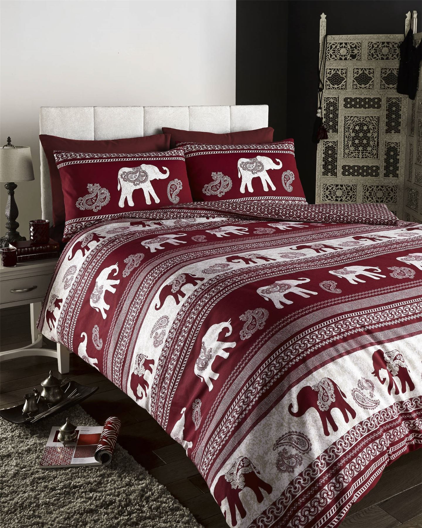 Indian Moroccan Arabic Ethnic Print Duvet Quilt Cover