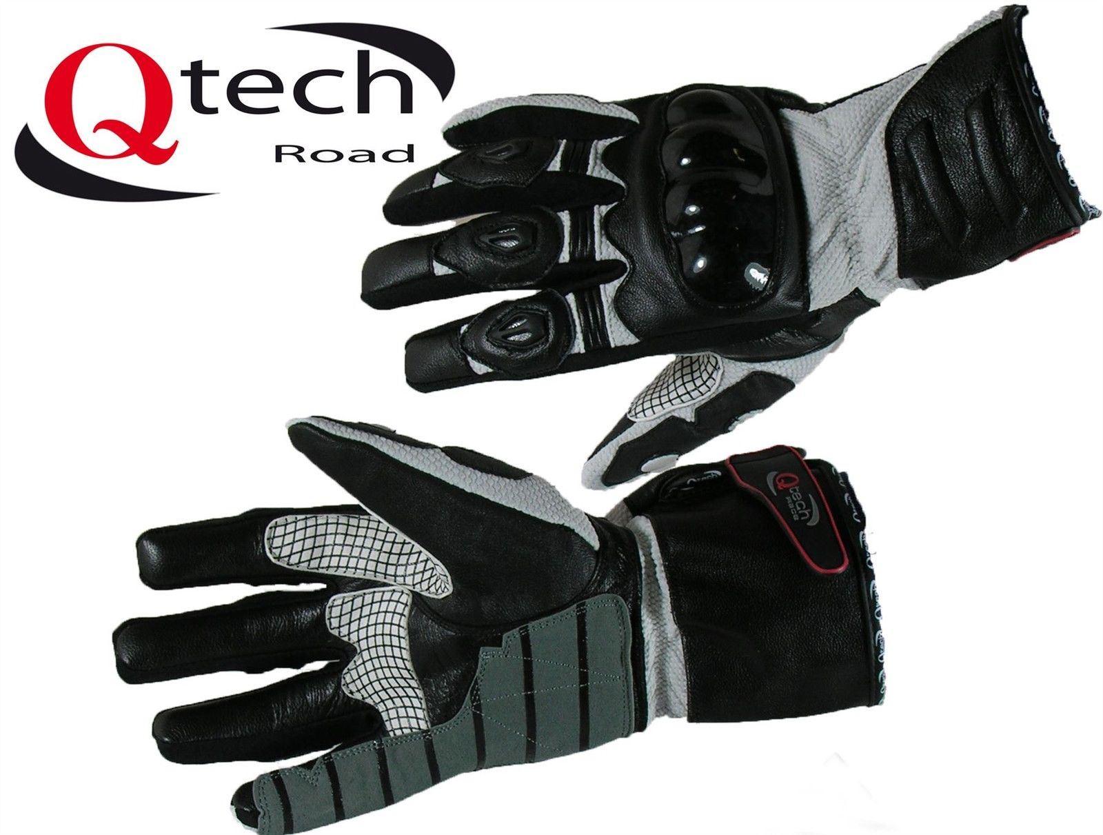gants de moto renforc s en cuir et tissu randonn e ebay. Black Bedroom Furniture Sets. Home Design Ideas