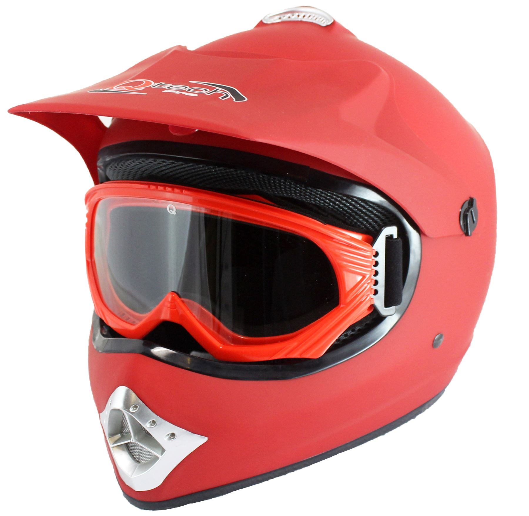 kinder motocross helm brille offroad atv schwarz rot. Black Bedroom Furniture Sets. Home Design Ideas