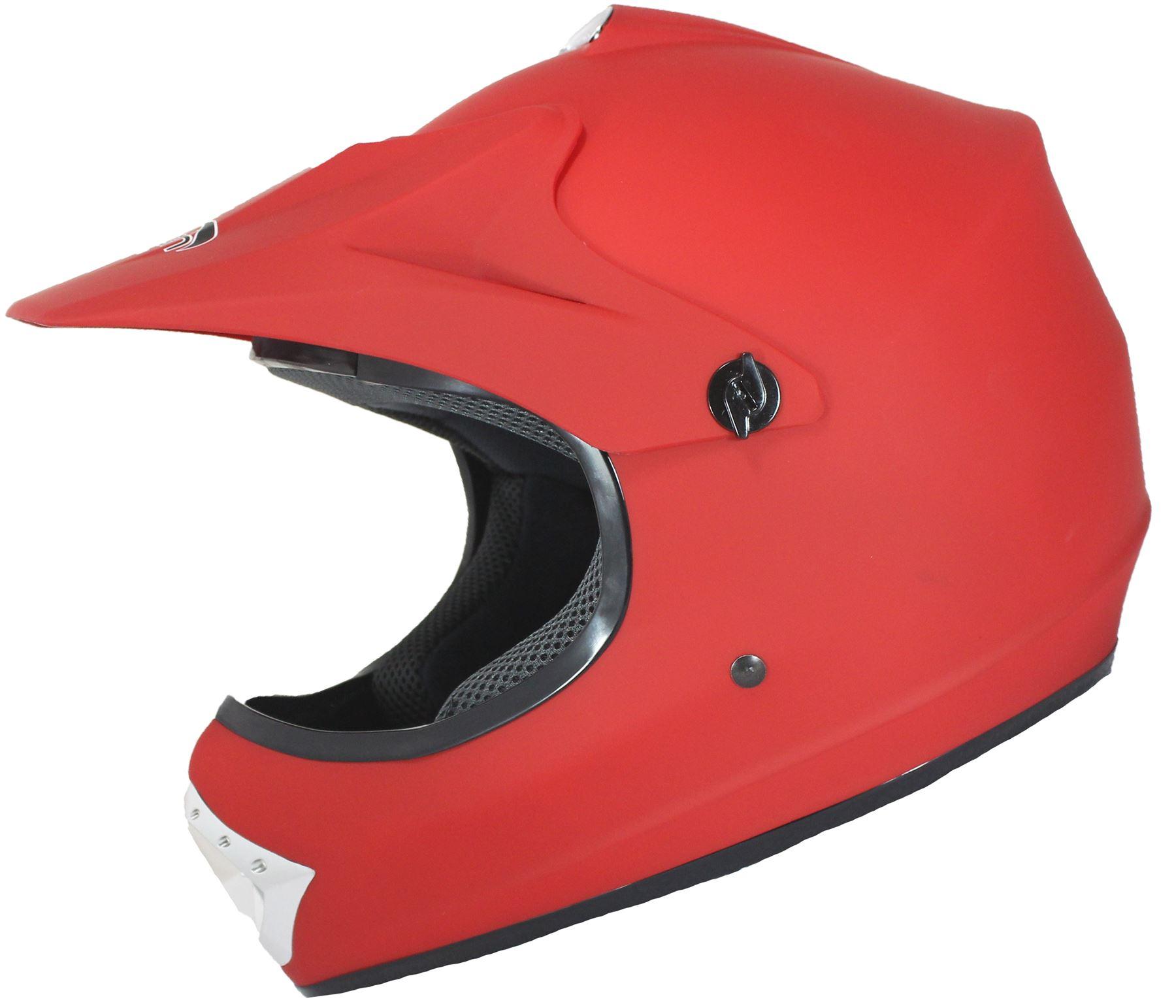 casque moto cross tout terrain enfant noir rouge bleu finition mat ebay. Black Bedroom Furniture Sets. Home Design Ideas