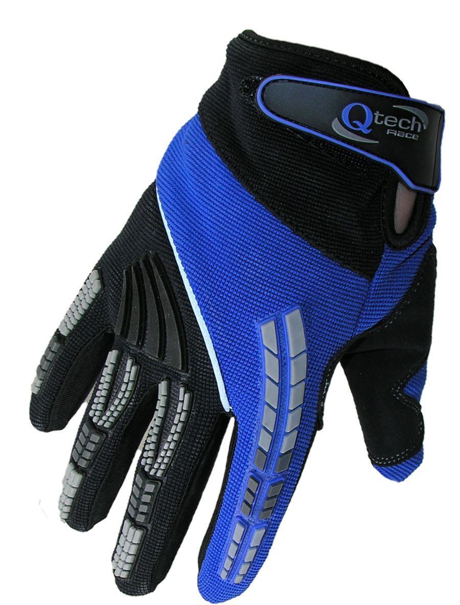 qtech gants protecteurs moto cross tout terrain bmx enduro enfant ebay. Black Bedroom Furniture Sets. Home Design Ideas