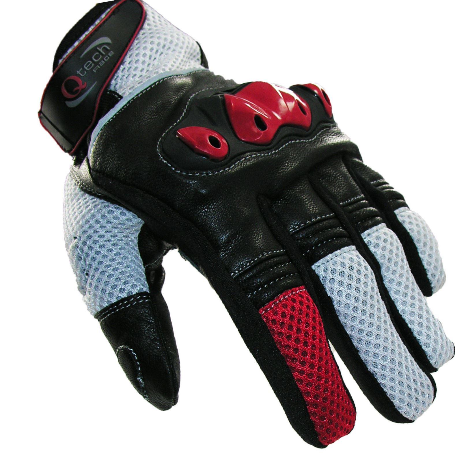 qtech gants courts de moto articulations renforc es ebay. Black Bedroom Furniture Sets. Home Design Ideas