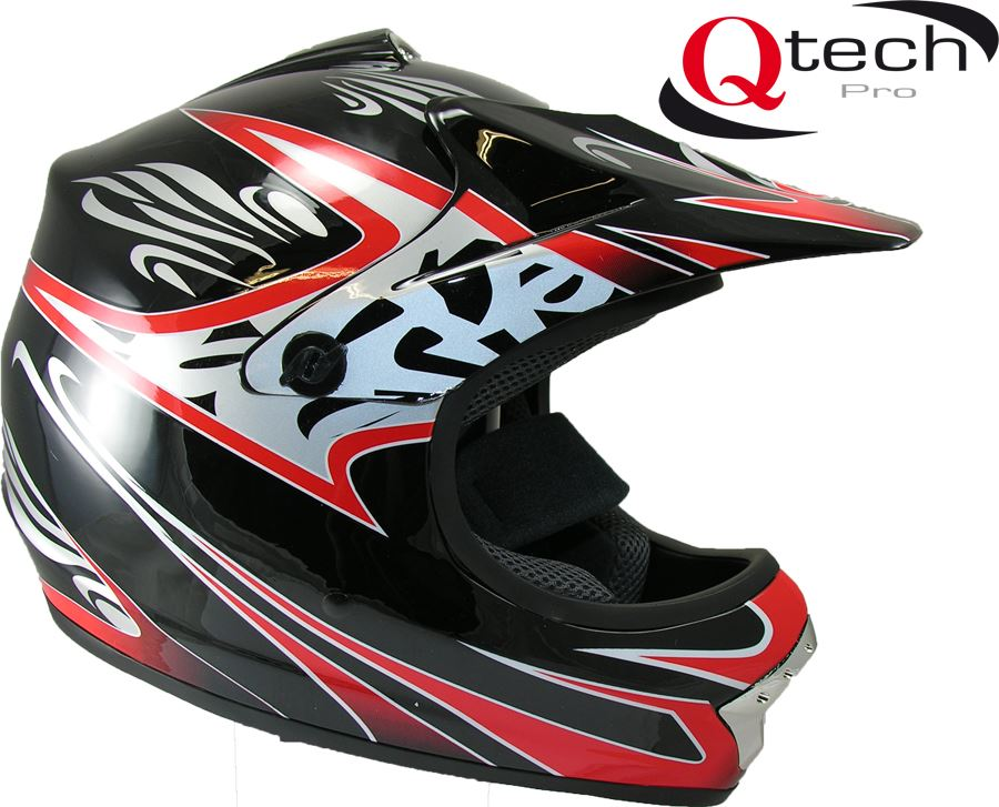 qtech casque de moto cross quad v lo tout terrain enfant. Black Bedroom Furniture Sets. Home Design Ideas