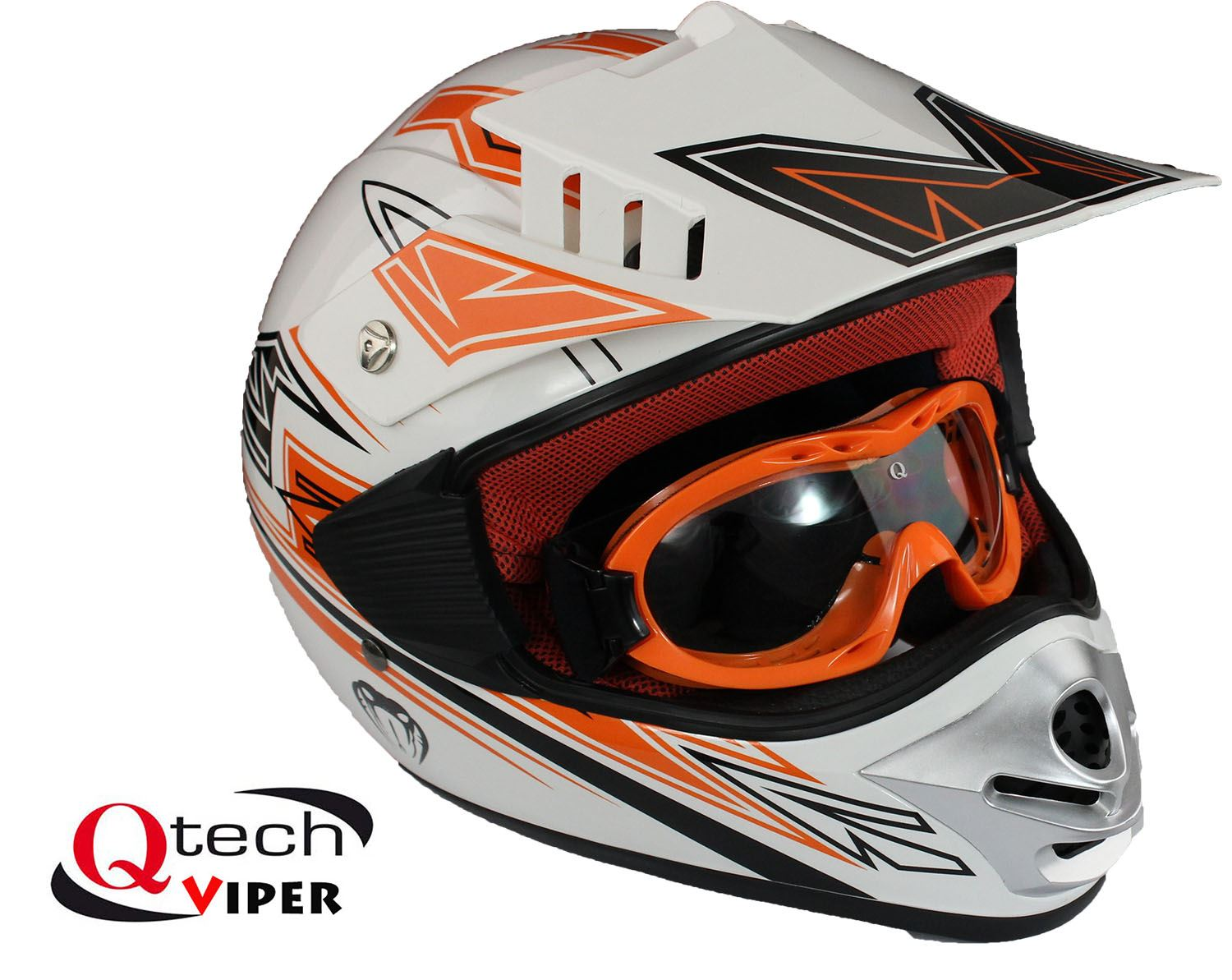 kinder motocross helm mit brille offroad dirt bike ebay. Black Bedroom Furniture Sets. Home Design Ideas