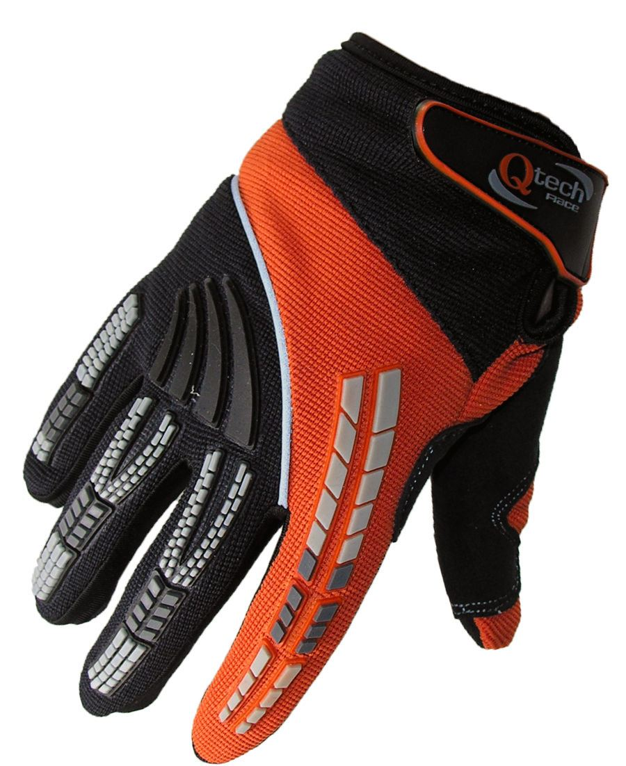 qtech gants protecteurs moto cross tout terrain bmx enduro adulte ebay. Black Bedroom Furniture Sets. Home Design Ideas