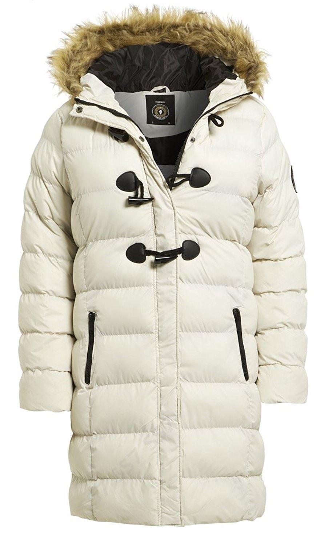 Womens faux fur lined coat