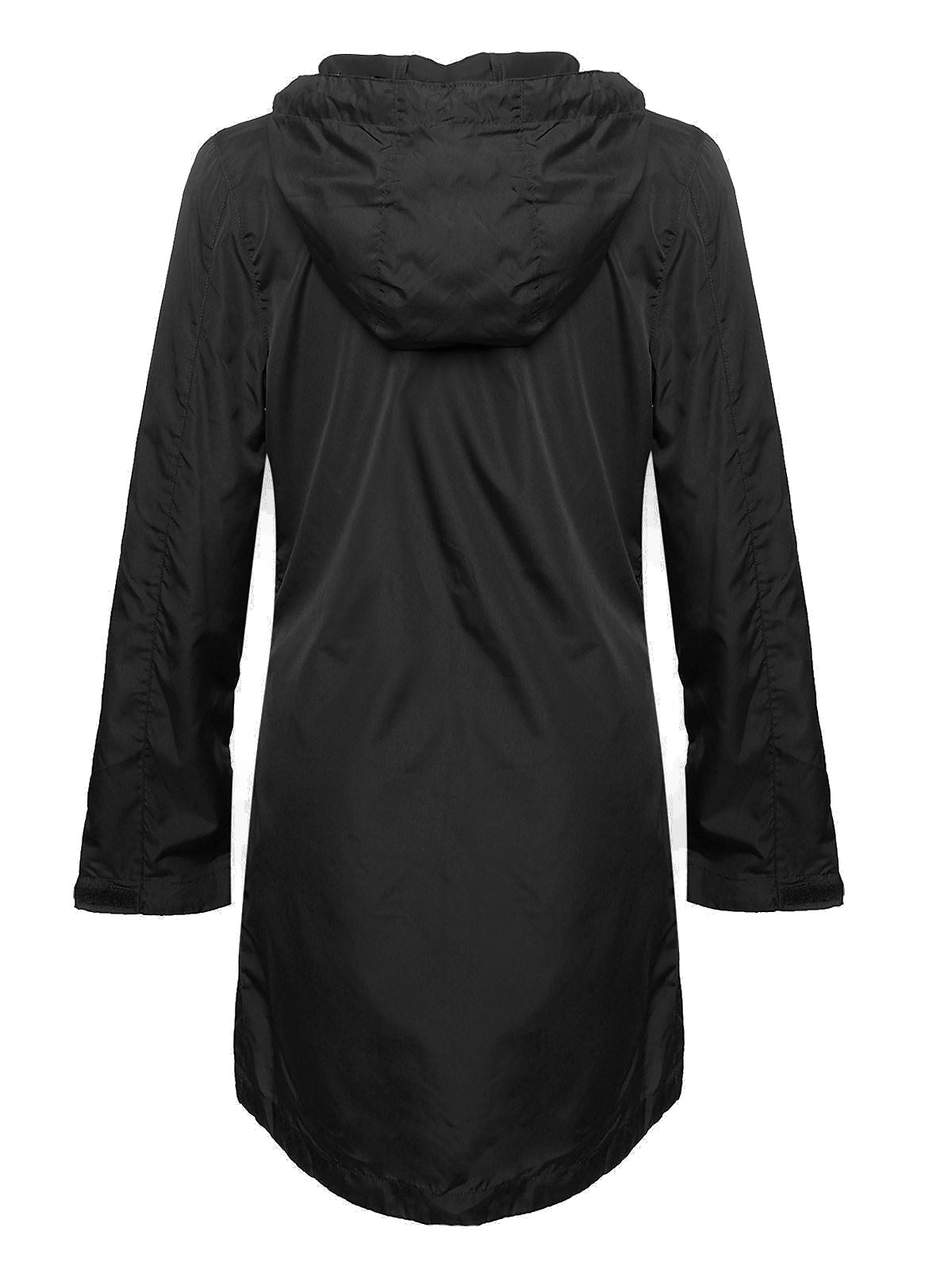 New-Ladies-Womens-Showerproof-Mac-Light-Rain-Jacket-Plus-Sizes thumbnail 3