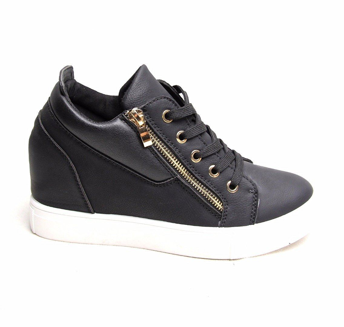 Womens Wedge Sneakers Shoes
