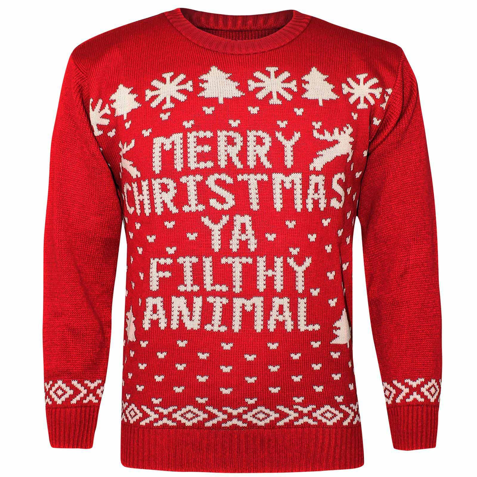 Ugly Christmas Sweaters for Men While a lot of ugly christmas sweaters are unisex, if you are a man who prefers to stay away from Santa Claus, elves, reindeer, and penguin themed sweaters, there's plenty of other options you can choose from, all of which can be just as ugly.