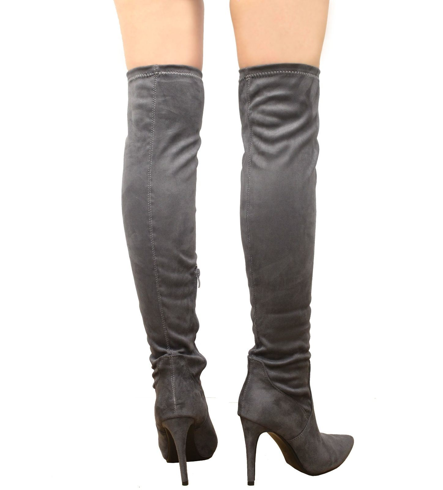 new women s the knee thigh high stiletto heel faux
