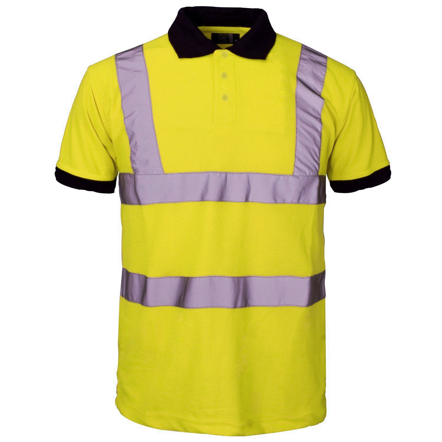 New Mens High Visibility Short Sleeve Polo Work Wear T