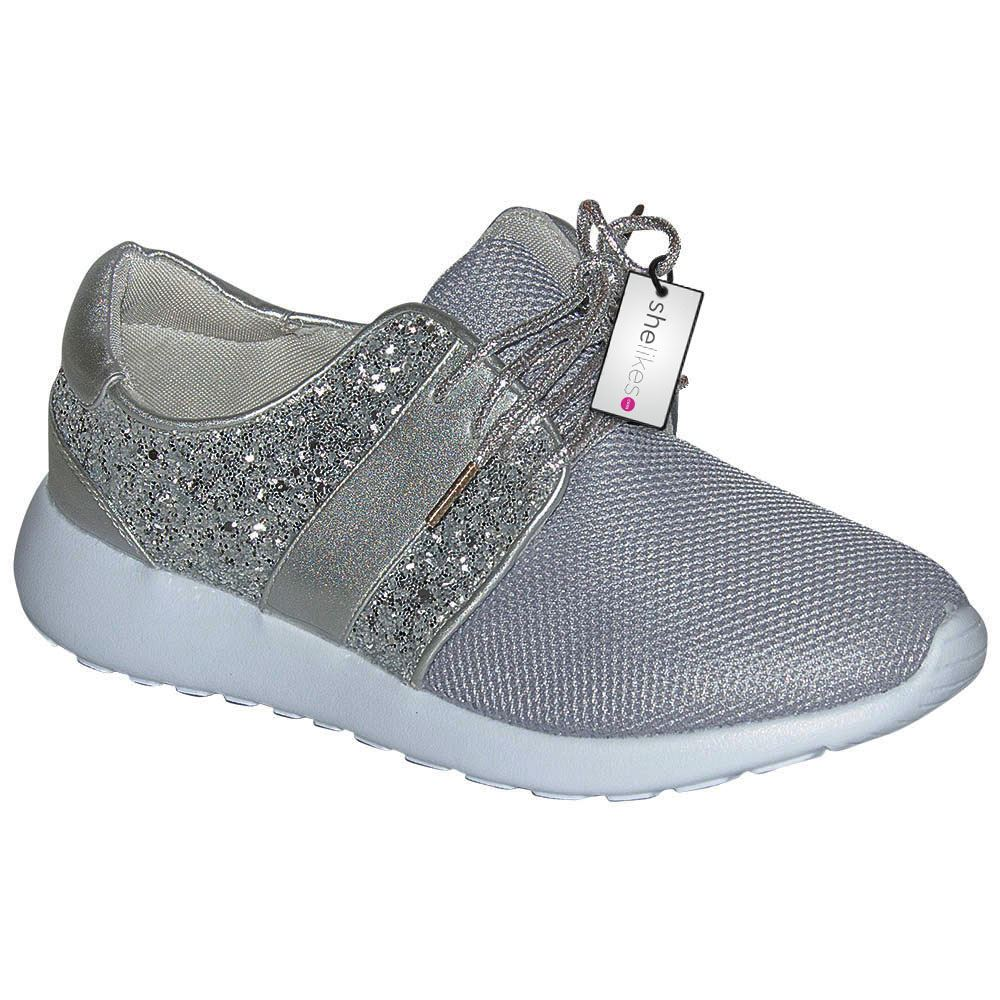 womens sequin sports sparkle running sneakers
