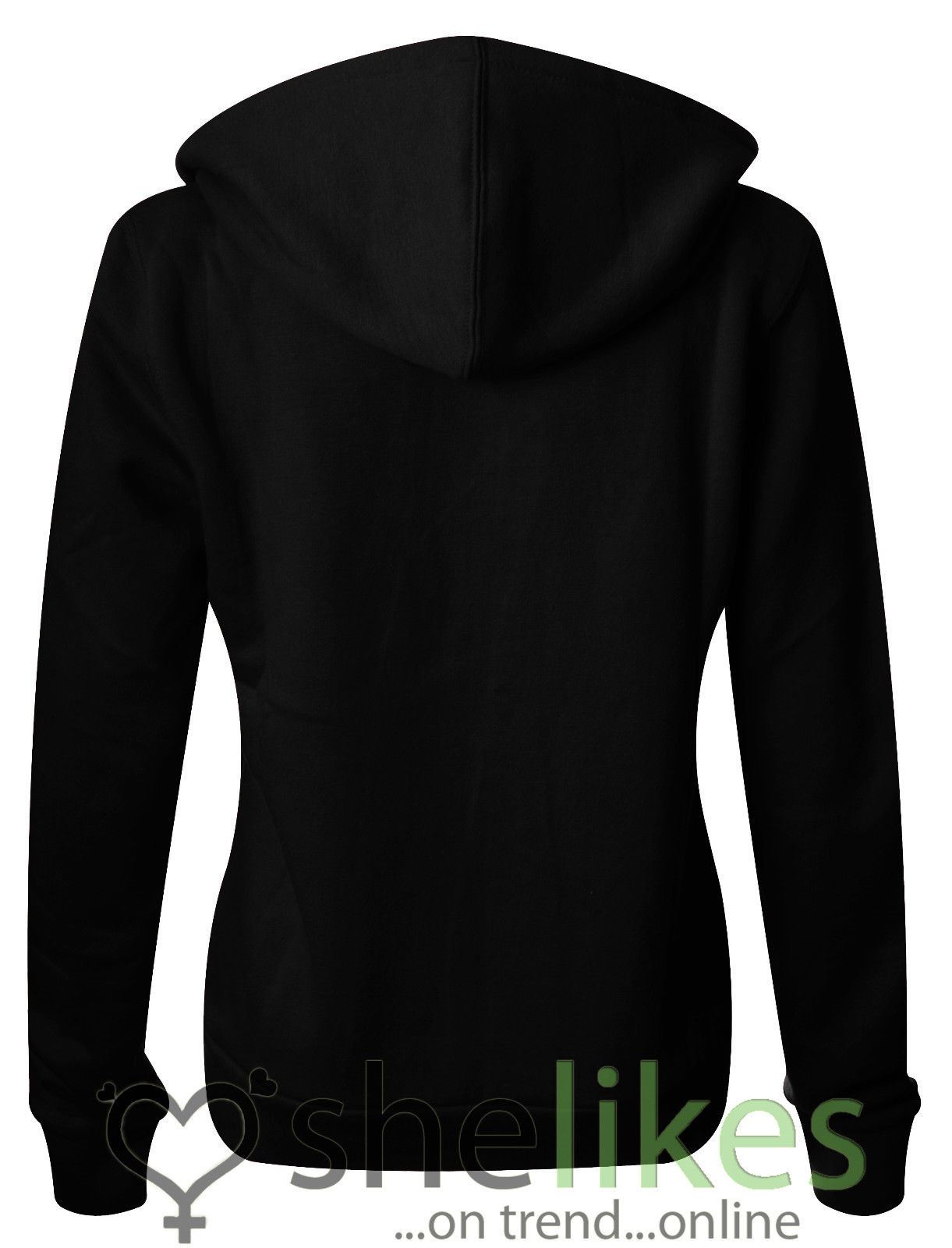 NEW-LADIES-WOMENS-PLUS-SIZE-FRONT-ZIP-HOODED-SWEATSHIRT-PLAIN-HOODIE-JACKET-TOP thumbnail 3