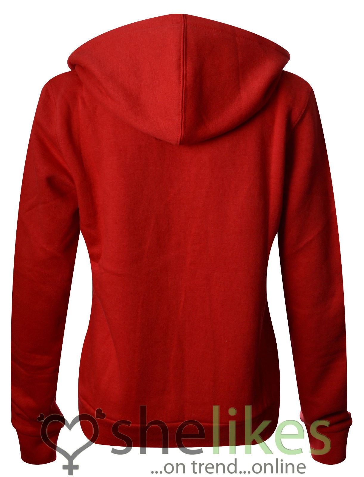 NEW-LADIES-WOMENS-PLUS-SIZE-FRONT-ZIP-HOODED-SWEATSHIRT-PLAIN-HOODIE-JACKET-TOP thumbnail 13