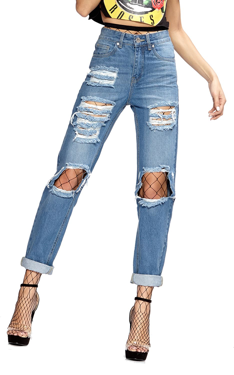 new womens stone washed ripped boyfriend denim jeans. Black Bedroom Furniture Sets. Home Design Ideas