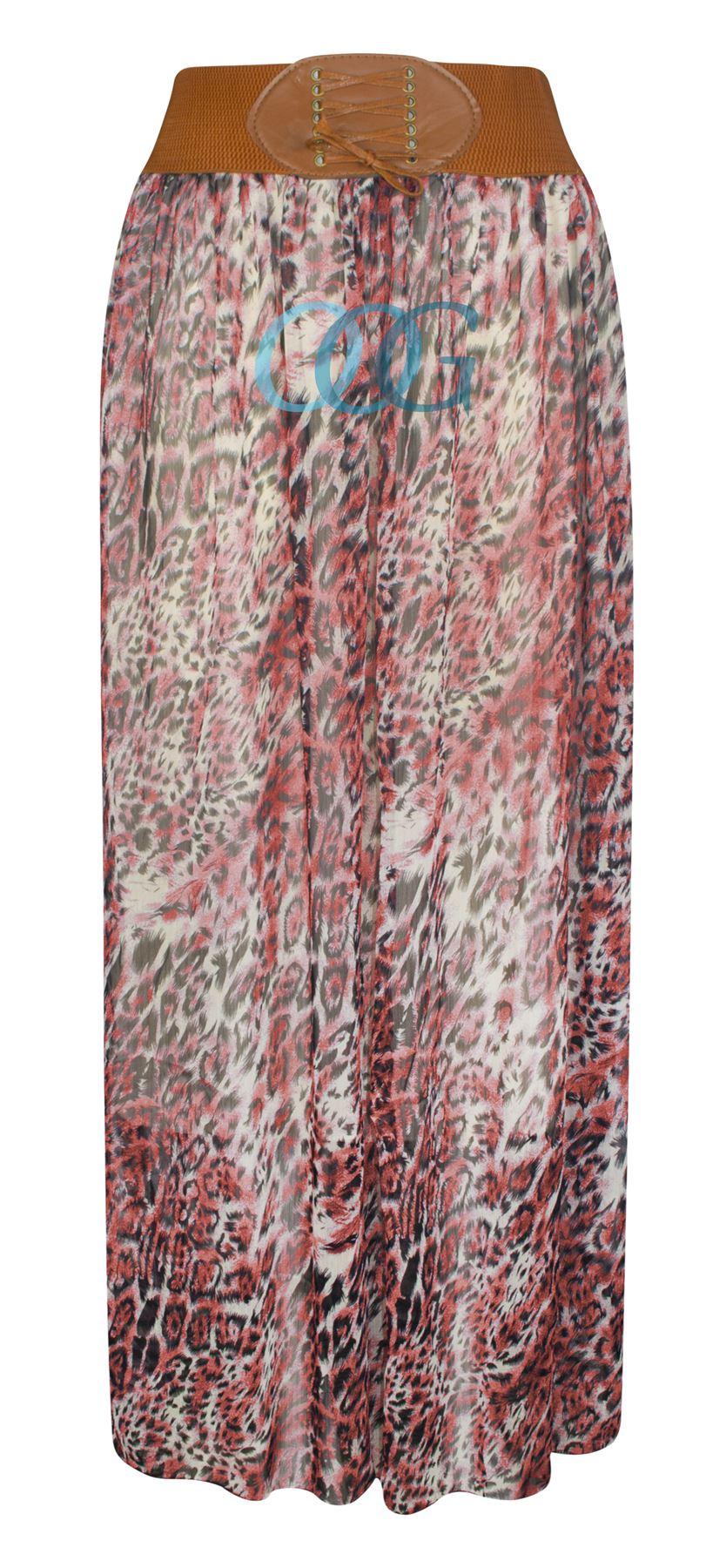 womens animal leopard floral print sheer chiffon