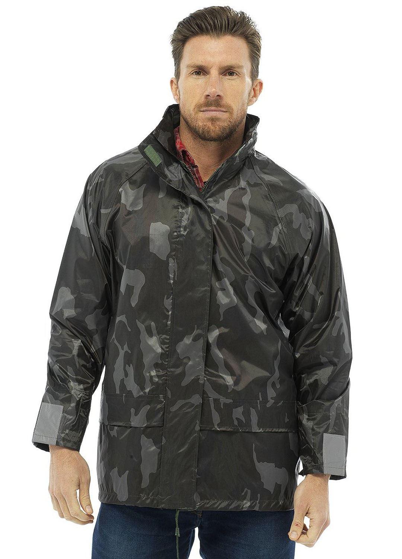 Mens Light Camo Waterproof Hooded Army Print Outdoor